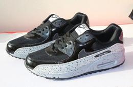 2019 nuevos hombres zapatos de mujer clásico 90 hombres mujeres corriendo deportes zapatillas de deporte Trainer Hommes et femmes Air Cushion superficie transpirable calzado deportivo desde fabricantes