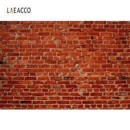 Fondo de fotografía de pared de ladrillo online-Laeacco Vintage Old Brick Wall Portrait Grunge Fotografía Fondos Personalizados Fondos Fotográficos Para Estudio Fotográfico