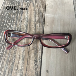 151e4d7a3174 gafas de acetato de miopía marcos de anteojos para mujeres anteojos  recetados para hombres marcos de gafas de color rojo vino marco óptico  borde completo