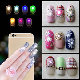 dicas de decoração Desconto Mulheres nfc nail art dicas diy adesivos de telefone led light flash decoração do partido dicas de unhas decalques nail art ferramentas