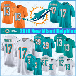 Estela jersey online-Cosido 3 Josh Rosen Miami Dolphin Jersey 29 Minkah Fitzpatrick 47 Kiko Alonso 21 Frank Gore 80 Danny Amendola 91 Cameron Wake calidad superior