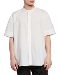 19FW AM1R1 Schwarzweiss Quadrat Hemd Art und Weisekurzschluss Hülsen Hemd Mann Frauen Paar beiläufige Hemden Straßen Umlegekragen HFHLCS011