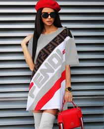 vestiti tagliati dall'impero Sconti 2019 abito casual da donna di design per le donne Moda abiti da donna sexy di marca FF bianco Stampato casuale lettera stampa digitale