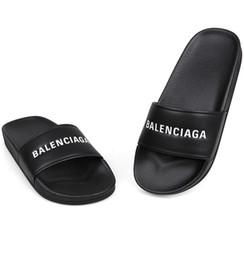 marchi di piscine Sconti Pantofola piatta in gomma morbida per donna, sandalo piatto in gomma da uomo, modello moda, in cotone