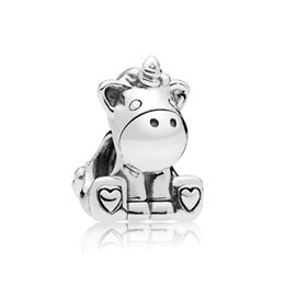 cow glasses Coupons - NEW 100% 925 Sterling Silver New Charm Cute Cow Beaded Exquisite Lucky Women Gift Original Jewelry Factory Direct Sales 797609