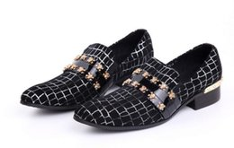 mens skull shoes Coupons - Plus Size euro 46 Skull Wedding Party Shoes Fashion Genuine leather Mens Oxfords