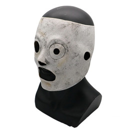 filmati degli attrezzi Sconti Maschere Slipknot Latex Halloween Maschera Tema Resina Latex Movie TV Progetti Strumenti Performance Terror Face Hood Vendita Calda 58px L1