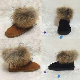 hohe mode schnee stiefel Rabatt Designer Stiefel Klassischen Australischen Stil Schneeschuhe Frauen Kunstpelz Winter Leder Hochwertige Mode Knöchel Luxus Schuhe Marke IVG EUR35-44