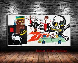 impressionismo pintura a óleo Desconto Graffiti Obras de Arte, Pintura em Lona Sala de estar Home Decor Modern Mural Art Pintura A Óleo