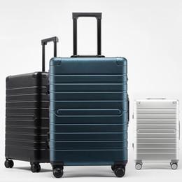 Canada Nouveau valise trolley en métal 100% en alliage d'aluminium-magnésium bagages aluminium spinner boîte d'embarquement de voyage 20