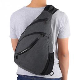 paquete de eslinga impermeable Rebajas Unisex Bolsas de pecho para deportes al aire libre Gran capacidad Impermeable Sling Bag Hombres Mujeres Lienzo Hombro Cofre Paquete