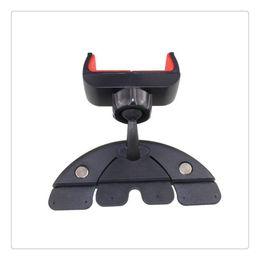 cartão de plástico para placa de plástico Desconto Leitor de CD do carro Slot Mount Holder Portátil Ajustável Universal Flexível de 360 graus de Rotação Veículo Suporte Do Telefone Preto
