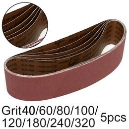 2020 cinture mobili Cinture 5pcs staccabile nastro abrasivo lucidatura dei metalli non lavorazione del legno Mobili Grinding potere abrasivo Sander cinture mobili economici