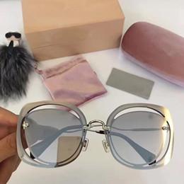 miumiu 54S Nuevo Diseñador Popular Gafas de sol de montura cuadrada Avanzada gafas de producción de tablones Hombres de negocios Gafas VU400 de protección desde fabricantes