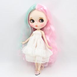 vendita all'ingrosso Blyth ICY Doll corpo misto fresco colore misto capelli lunghi ricci viso opaco con le sopracciglia lip gloss SD bambola bjd regalo giocattolo da moda jeans bambino fornitori