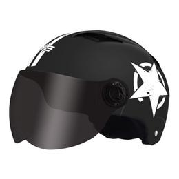 Мотоциклетный шлем полуоткрытое лицо защита головы передач шлемы унисекс регулируемый размер пятиконечная звезда летняя крышка C8 cheap caps sizes от Поставщики размеры колпачков
