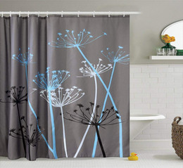 country set da bagno Sconti 180x180cm 3D Denti di leone impermeabili Bagno Tenda da doccia Telo da bagno Tessuto da bagno Tenda da bagno Accessorio da bagno in poliestere