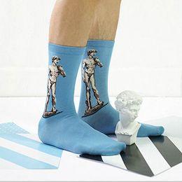 2019 tubi di piedi Calze di cotone Donna Uomo Pittura Arte Stampata Tubi Calzetteria Calzature per piedi sconti tubi di piedi