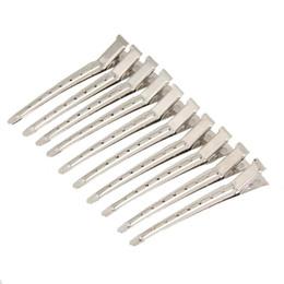pinzas para el cabello de acero inoxidable Rebajas 10pcs pinzas para el cabello pelo acero inoxidable peluquería seccionamiento clips abrazadera