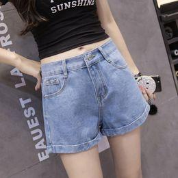 f5274aabbff 2019 New Euro Style Women Denim Shorts Vintage High Waist Cuffed Jeans  Shorts Street Wear Sexy For Summer Spring Autumn