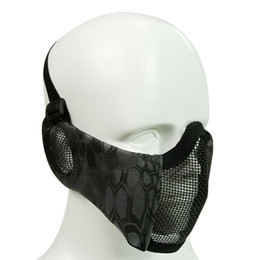 Açık Sürme Nefes Tel Örgü Taktik-oyun Maskesi Gri, Sarı yeşil, Koyu siyah, Siyah 136g cheap wire mesh mask nereden hasır maske tedarikçiler