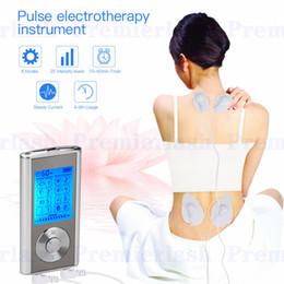 Unidad estimuladora online-Masajeador Máquina recargable eléctrica para aliviar el dolor 8 modos Unidad de decenas Pulso portátil Masajeador Estimulador muscular Terapia