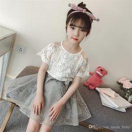 6a690d96de briefs small girls Australia - New Summer Girl Dress Clothing Sets Creative  Small Fresh Lace Cute