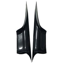 Углеродистая дверь автомобиля онлайн-FIONSEE abs отделка подлокотником автомобильной двери из сажи для bmw серии 7 / крышка ручки внутренней двери автомобиля для f01 f02 / отделка салона автомобиля