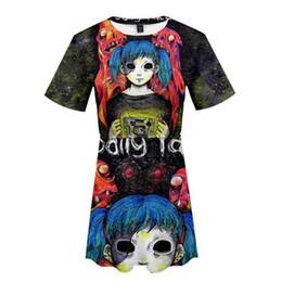 f100955c4 mulher de roupas bonitas curto Desconto Sally face 3d impressão mulheres  2019 venda quente moda verão