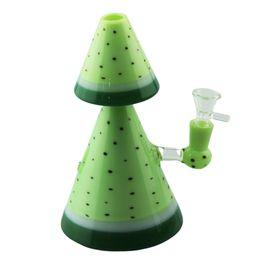gafas mcdonald Rebajas Forma de árbol 8 pulgadas Bongs de vidrio Pipa de agua Pipas para fumar tabaco plataforma petrolera dab Con tazón de vidrio Banger de cuarzo