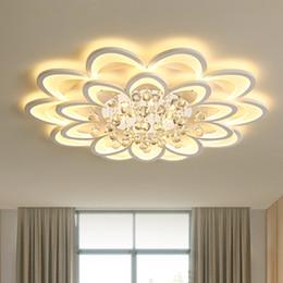 techo de madera moderno Rebajas Nuevas y modernas lámparas de araña para sala de estar dormitorio comedor acrílico cristal Interior de la lámpara de araña lámparas