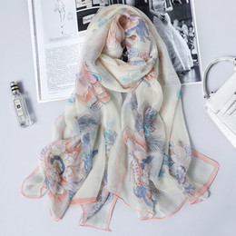 stole patterns Promo Codes - Scarfs for Women Lightweight Print Floral Pattern Scarf Shawl Fashion Scarves Sunscreen Shawls women luxury designer scarfs
