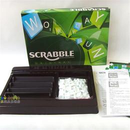 Juego gratis para niños online-Juego de Scrabble en inglés Juego de escritorio de Scrabble Aprenda inglés Juguetes educativos Déle a su hijo un buen ambiente de aprendizaje envío gratuito