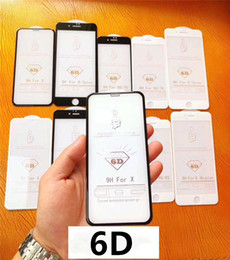 Canada 6D Couverture complète 9H Verre trempé ultra-mince pour iPhone 8 7 6 6 Plus Plus X XS MAX XR Film de protection en verre pour iPhone 5 5S Offre