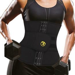 2019 взвешенный пояс NINGMI  Waist Trainer for Women Neoprene Sweat Shirt Weight Loss Tank Top Corset Belt with Pocket Slimming Belly Strap дешево взвешенный пояс