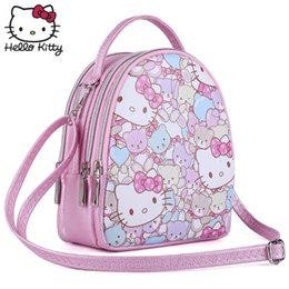 f723d4652 Hello Kitty Cute Cartoon Bag hellokitty Fashion Women 2019 New Style Girl  Leather Cute Cartoon Pink Kids SchoolBag Plush Gift
