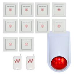 Système de bouton d'appel sans fil en Ligne-Le plus nouveau système d'appel d'urgence bouton sans fil 86mm mural 433mhz système d'alarme de sécurité à domicile hôpital et chambre d'hôtel