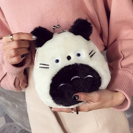 Cadena de grasa online-Lucky2019 Meng Da Bai Fat Hamster Lint Bag Mujer Cartoon Lovely Baby Packet Chain Oblique Satchel