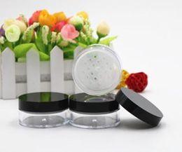 Peneira de garrafa de pó on-line-recipientes vazios da garrafa da caixa da peneira do pó solto transparente vazio PS, frasco plástico claro do recipiente da peneira do Sifter