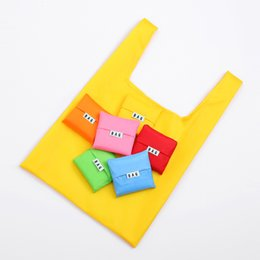 Les sacs à provisions se pliants portatifs réutilisent les sacs à bandoulière 35 * 57 * 11cm imperméables à l'eau de couleur de sucrerie écologiques de tissu oxford respectueux de l'environnement ? partir de fabricateur