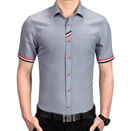 80c3807d0fc Discount mens slim fit denim shirt - Men Shirt Brand 2019 Male Short Sleeve  Hawaiian Shirts