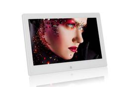 10-дюймовый 10,1-дюймовый цифровой фоторамки 1024*600 TFT LCD широкоэкранный рабочий стол Цифровая фоторамка стеклянная фоторамка с розничным пакетом DHL бесплатно от Поставщики фоторамка белый экран