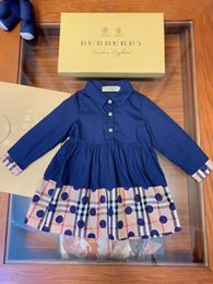 Westliche röcke prinzessin online-great_baby kleid rand muster design pastoralen jugend blume Mädchen Prinzessin Western Style Kinder Rock langarm kleider 0818