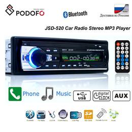 Плеера mp4 онлайн-Podofo Bluetooth Autoradio Car Stereo Radio FM Aux Input Receiver SD USB JSD-520 12V In-dash 1 Din Car MP3 мультимедийный плеер автомобильный DVD плеер