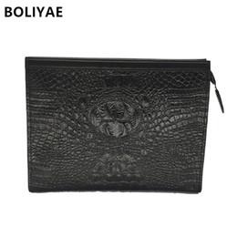 BOLIYAE Pochette in pelle per uomo Coccodrillo modello Portafogli Borsa da uomo d'affari borsa moda PICCOLA SACCHETTO borsa di moda da vestiti da foglia fornitori