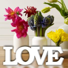 love flowers photos Promo Codes - Artificial Flowers Fall Decor Fake Flowers LOVE Letters Wedding Photo Props Wedding Signs Home Room Wall Decoration
