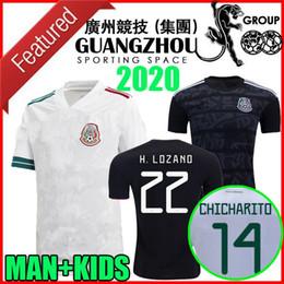 Maillots mexico équipes en Ligne-20 21 Mexique maillots de football à l'extérieur H.LOZANO DOS SANTOS 2020 chicharito 2021 Kit enfants homme de l'équipe nationale garçon chemises uniformes de football de sport