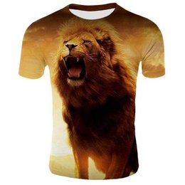 Elegante t design da camisa do pescoço on-line-mangas curtas Factory Outlet T-shirt Homens animal T-shirt Projetado Stylish Verão 3D Tops Roupa Marca Casual Tops O-Neck manga curta