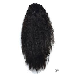2020 parrucche lunghe spesso Moda donna Lungo Ombre Parrucca ondulata Artiglio spesso ondulato Ricci Coda di cavallo Coda di cavallo Clip di capelli Estensioni Cosplay Parrucche sintetiche parrucche lunghe spesso economici