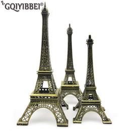 ornamentos de paris Desconto 62 cm Arte Artesanato Bronze Paris Torre Eiffel Modelo Ornamento Estatueta Liga de Zinco Estátua Lembranças de Viagem Casa Decorações T190709